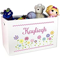 Girls Personalized Toy Box