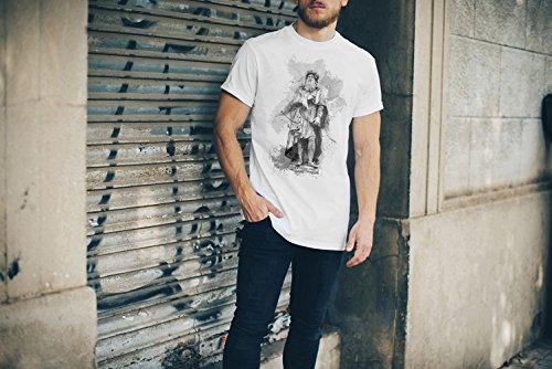 Leonardo Da Vinci T-Shirt Herren, weiß mit Aufdruck