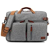 CoolBELL Convertible Backpack Messenger Bag Shoulder bag Laptop Case Handbag Business Briefcase Multi-functional Travel Rucksack Fits 17.3 Inch Laptop For Men / Women (Grey)