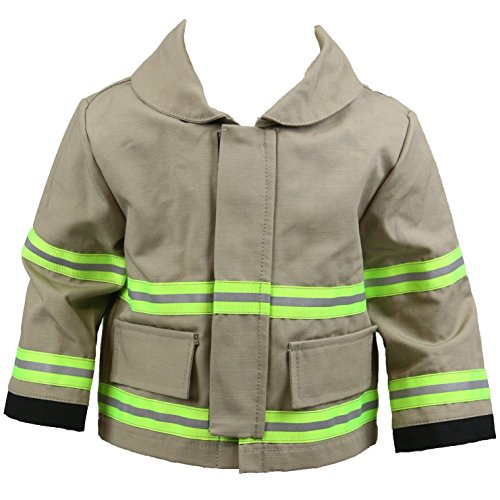 Fully Involved Stitching Personalized Firefighter Baby TAN Jacket (ONLY)