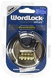 Wordlock Combination Discus Padlock – 4 Dial, Stainless Steel