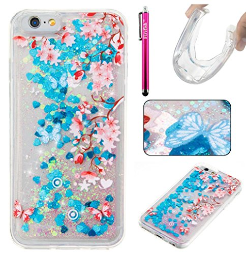 """Price comparison product image iPhone 6 Plus / 6S Plus Case,  Firefish Thin Sparkle Flexible TPU Gel Silicone [Ultra Thin] [Scratch Resistances] Back Cover Shell for Apple iPhone 6 Plus / 6S Plus 5.5"""" -Flower"""