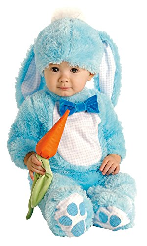 Rubie's Baby Handsome Lil Wabbit Costume, Blue, 12-18 Months (Plush Blue Rabbit Bunny)