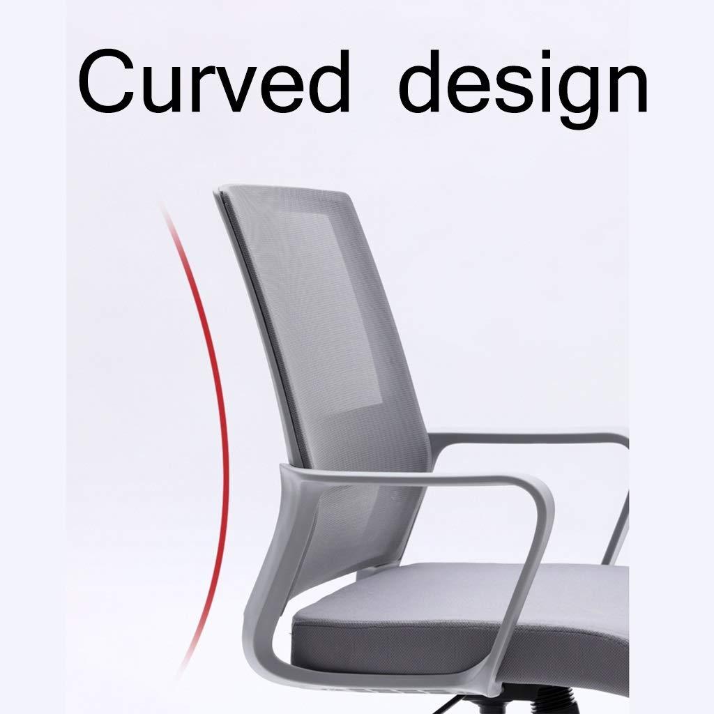 ZZHZY BBGS halvrygg kontorsstol, justerbar konferensstol, roterande datorskrivbord och stolar, med armstöd 4 färger (färg: A-4) A-2