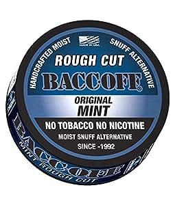 Amazon.com: BaccOff, Original Mint Rough Cut, Premium Tobacco Free, Nicotine Free Snuff ...