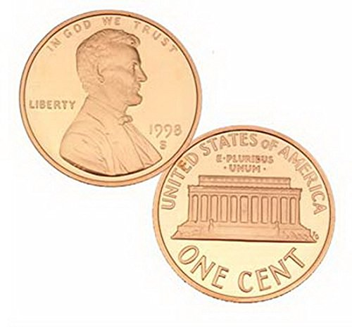 1998 S US Mint Gem Proof Lincoln 1 Cent Penny - Lincoln City Stores