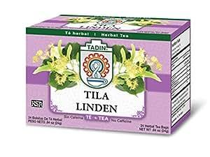 Tadin Tea, Tila (Linden Flower) Tea, 24-Count Teabags (Pack of 12)