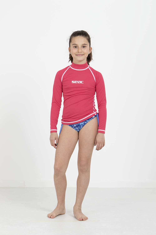 Sonne Schutz Lange /Ärmel Seac M/ädchen Rash Guard t-Sun Pink