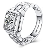 Mini World Watch Style Comfortable Engagement Ring Wedding Ring for men