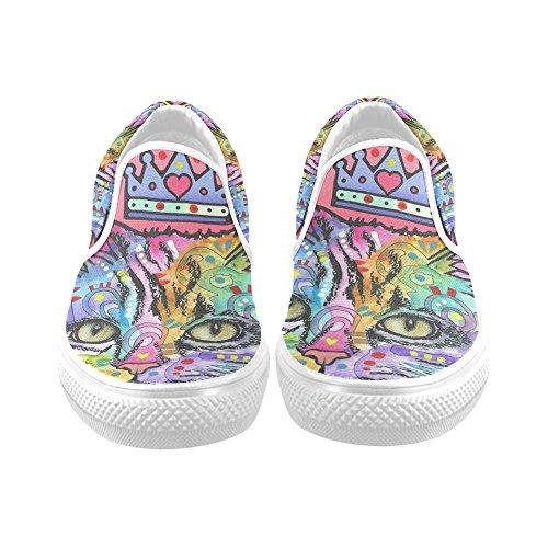 Unik Debora Anpassa Mode Kvinna Gymnastikskor Ovanliga Loafers Slip-on Tygskor Multicoloured52