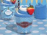 Sweet Treats Collection Blueberry Sundae towel favor [SET OF 12]