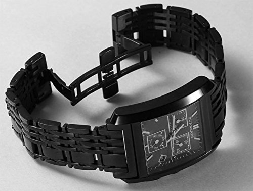Burberry Men's BU1563 Square Grey Chronograph Dial Black Bracelet Watch by BURBERRY (Image #3)