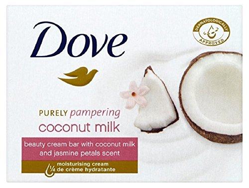 Dove Purely Pampering Coconut Milk, with Jasmine Petals Scent Beauty Bar Soap 3.5 Oz / 100 Gr (Pack of 12 Bars) ()