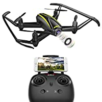 DROCON U31W Navigator Kids Drone with HD Camera (1280 x 720P) WIFI FPV Quadcopter with Altitude Hold Headless Mode for Beginner TF Card 4GB Included