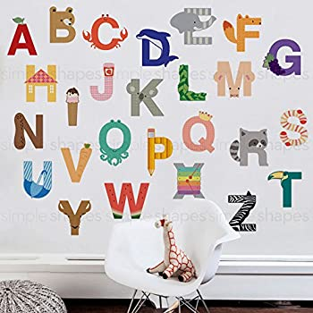 Alphabet Wall Sticker (Large)   Peel And Stick   By Simple Shapes