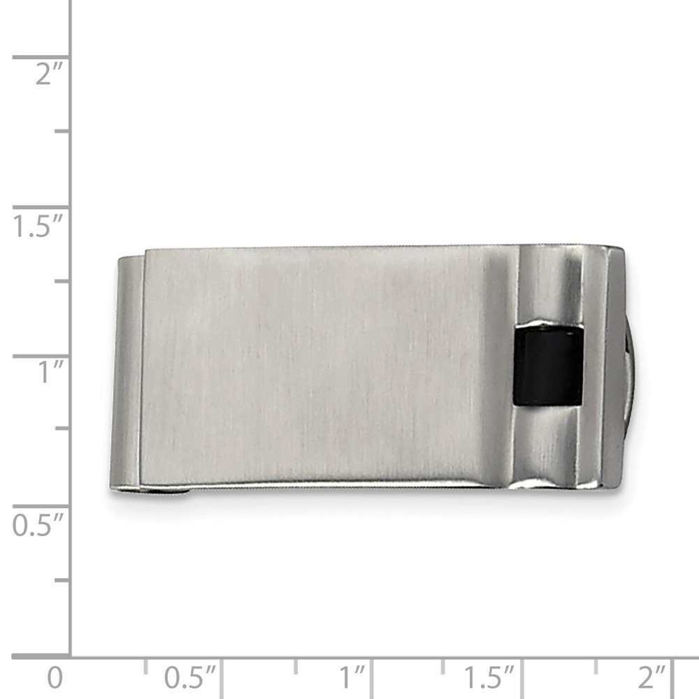 FB Jewels Solid Stainless Steel Brushed Enameled Money Clip