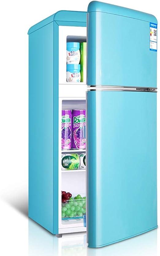 Refrigerador Retro De Doble Puerta con Congelador, Mini ...