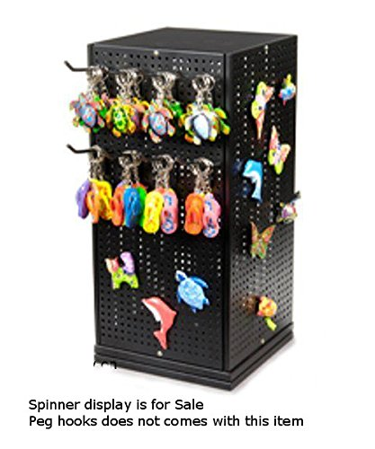 New Metal Pegboard Counter Spinner Display 10 in. W x 10 in. D x 20 in. H