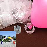 50 Pcs Balloon Arch Connectors Clip Ring Buckle For Wedding Birthday Decorative