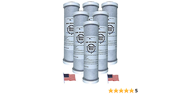 Amazon Com Kleenwater Carbon Block Water Filter Under Sink Replacement Cartridges Chlorine Sulfur Odor Contaminants Dirt Sediment Filtration Set Of 6 Made In The Usa 2 5 W X 9 75 L Kitchen Dining