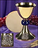 Stratford Chapel Gold Tone Blessed Mother Chalice and Paten Set, 8 Inch