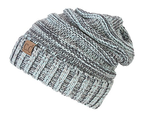 Gravity Threads CC Trendy Oversized Chunky Soft Beanie, Mint