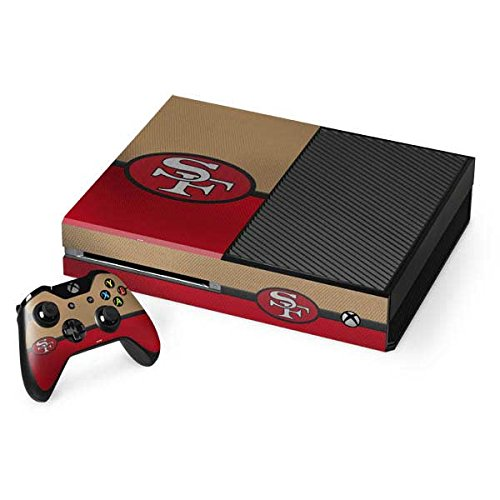 (Skinit NFL San Francisco 49ers Xbox One Console and Controller Bundle Skin - San Francisco 49ers Vintage Design - Ultra Thin, Lightweight Vinyl Decal Protection)