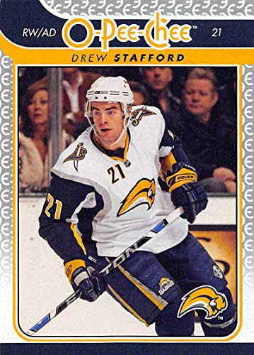 (2009-10 OPC O-Pee-Chee Hockey #425 Drew Stafford Buffalo Sabres Official 09/10 NHL Trading Card Fresh Out of Pack Condition)