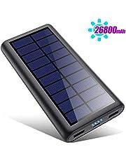 HETP Version à économie D'énergie Batterie Externe Chargeur Solaire 26800mah Power Bank [2020 Avancé Intelligent Contrôle IC ] Chargeur Portable Batterie de Secours Universel pour Téléphone Tablettes