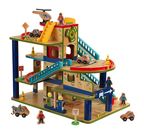 - KidKraft Wash N Go Wooden Car Garage Playset