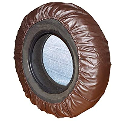 Spare Tire Cover – Must-Have Car Accessories for Your SUV, Jeep, RV, Trailer, Truck – Fit Most Wheel Sizes by Kankesh (L(16 INCH), Brown): Automotive