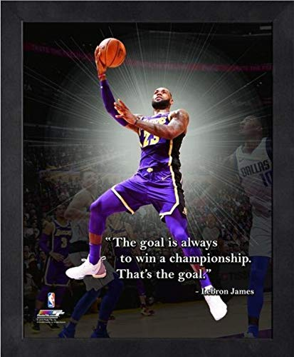 Los Angeles Lakers Framed - Lebron James Los Angeles Lakers NBA ProQuotes Photo (Size: 12