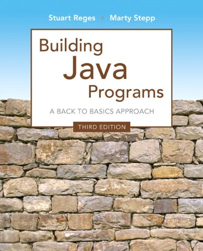 Building Java Programs (3rd Edition) by Brand: Addison-Wesley