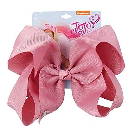 Jojo Siwa Solid Hair Bows Hairpins Handmade Polyester Bows Hair Clips Headwear