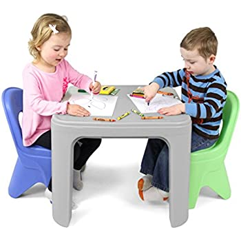 Simplay3 Kids Durable Play Around Table and Chair Set