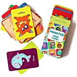 Shumee Fun Monster Snap Card Game for Toddlers, Kids, Preschoolers| Fun Card Game for Families, Birthday Gifts and Party Favors| 100% Safe, Natural & Eco-Friendly Learning Toy|3 Years +