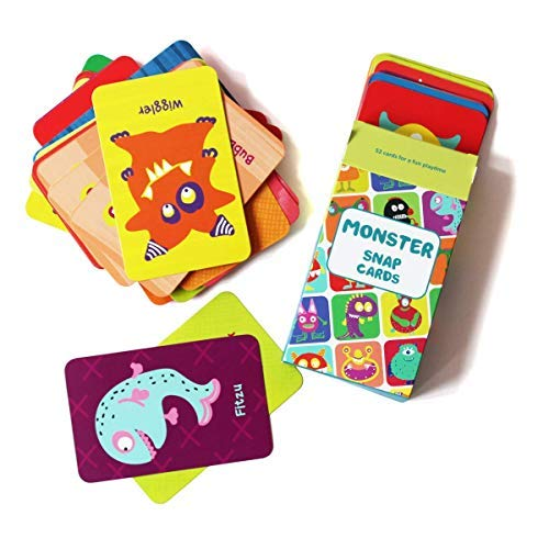 (Shumee Fun Monster Snap Card Game for Toddlers, Kids, Preschoolers| Fun Card Game for Families, Birthday Gifts and Party Favors| 100% Safe, Natural & Eco-Friendly Learning Toy|3 Years)