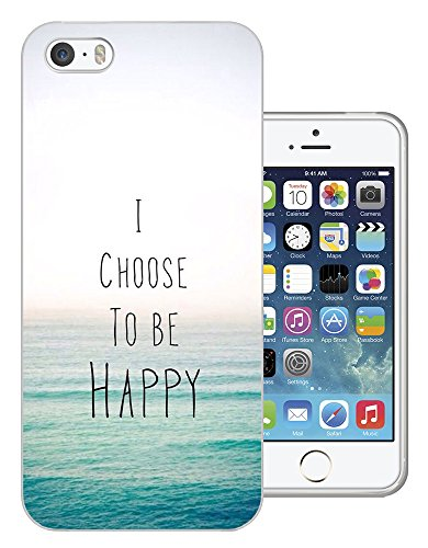 003276 - I chose to be happy quote sea Design iphone 5C Fashion Trend Protecteur Coque Gel Rubber Silicone protection Case Coque