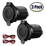 #5: Cigarette Lighter Socket Car Marine Motorcycle ATV RV Lighter Socket Power Outlet Socket Receptacle 12V Waterproof Plug by ZHSMS