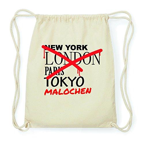 JOllify MALOCHEN Hipster Turnbeutel Tasche Rucksack aus Baumwolle - Farbe: natur Design: Grafitti dt41v