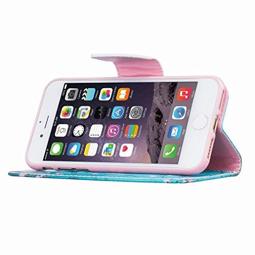 Custodia Apple iphone 7 Cover Case, Ougger Portafoglio PU Pelle Magnetico Stand Morbido Silicone Flip Bumper Protettivo Gomma Shell Borsa Custodie con Slot per Schede Moda Style 10