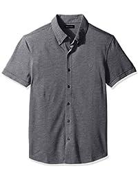 Nautica Men's Slim Fit Short Sleeve Button Down Pique...