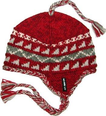 Everest Sherpa Earflap Peruvian Hat (red)