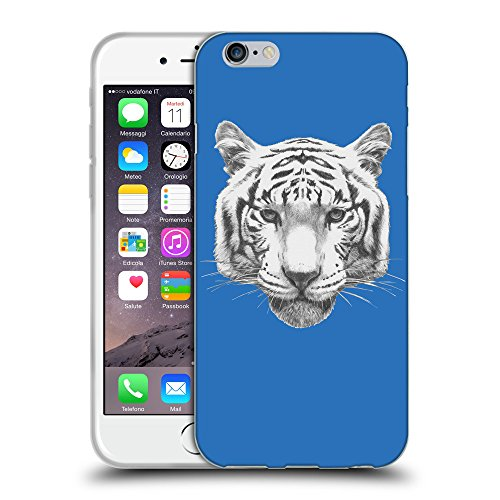 GoGoMobile Coque de Protection TPU Silicone Case pour // Q05470608 tigre blanc Azur // Apple iPhone 6 4.7""