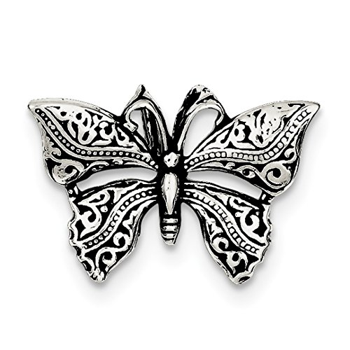 925 Sterling Silver Butterfly Slide Necklace Pendant Charm