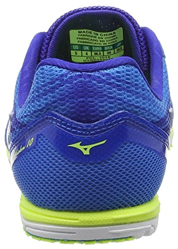 Mizuno Wave Ekiden 10, Scarpe da Running Uomo Blu (Blue (Diva Blue/White/Safety Yellow))
