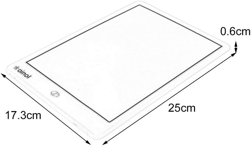 Coldcedar 10 Inch LCD Writing Tablet Digital Drawing Board Ultra-Thin Energy Saving