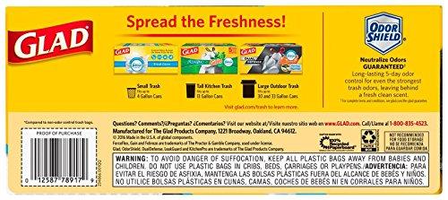 Glad Forceflex Kitchen Pro Drawstring Trash Bags Fresh Clean 20 Gallon 60 Count Pricepulse