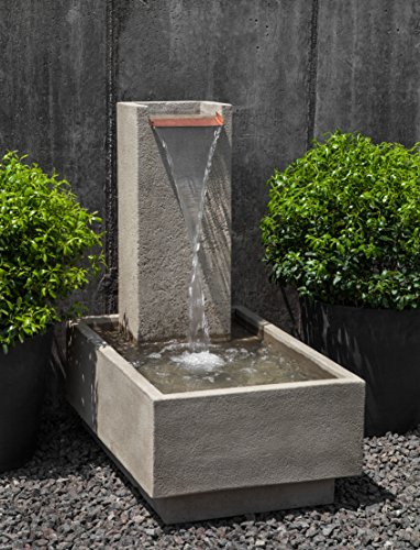 Falling Outdoor Water Fountain (Campania International FT-288-AS Falling Water IV Fountain, Alpine Stone Finish)