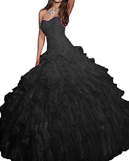 Onlybridal Womens Quince Dresses Organza Ball Prom Quinceanera